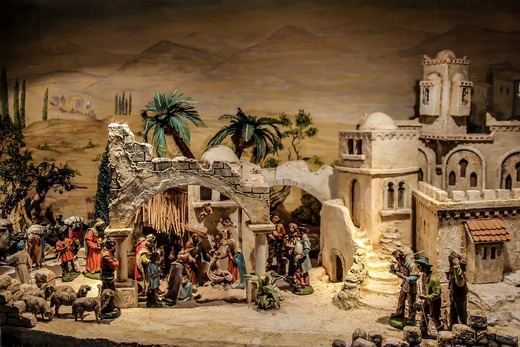 A display based on Christmas in Betlehem