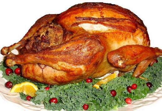 Roasted Christmas turkey