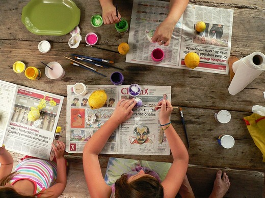 Group making crafts