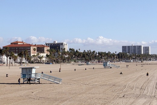 An LA beach, showing one of the things to do in Los Angeles.