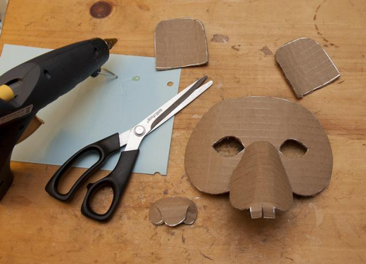 Making a cardboard mask