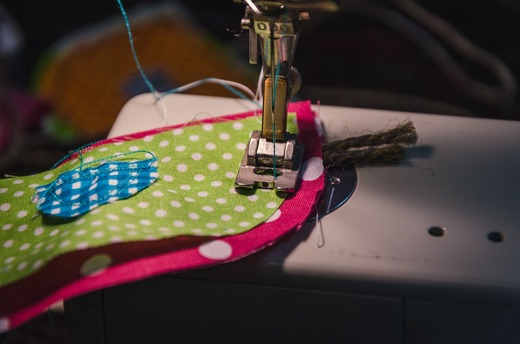 Stitching with sewing machine