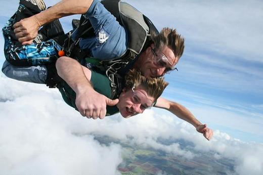 Skydiving adventure can be exhilirating