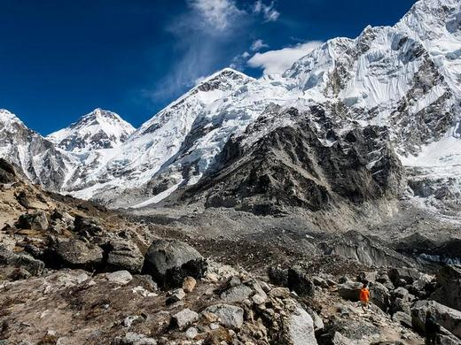 Trekking in the Himalayas is challenging