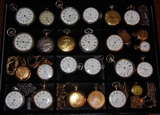 A collection of vintage pocket watches
