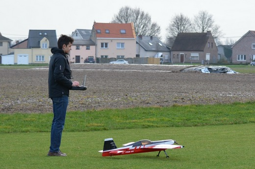 Playing with a working model airplane