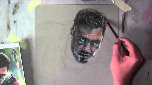 Drawing Robert Downey, Jr. face